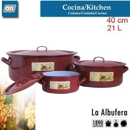 CACEROLA 40CM 21,0L VITRI CLASICA [LA ALBUFERA]