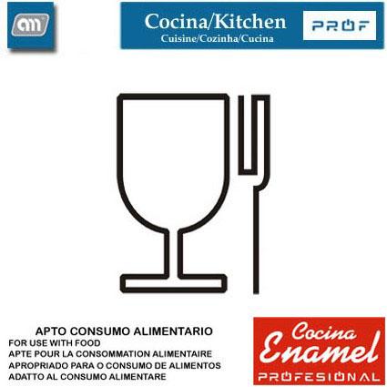 CUCHILLO PUNTILLA C/SIERRA 9CM LITTLE[ENAMEL PROF]