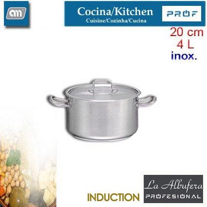 CACEROLA 20CM 4L ALTA C/T INOX[LA ALBUFERA PROF